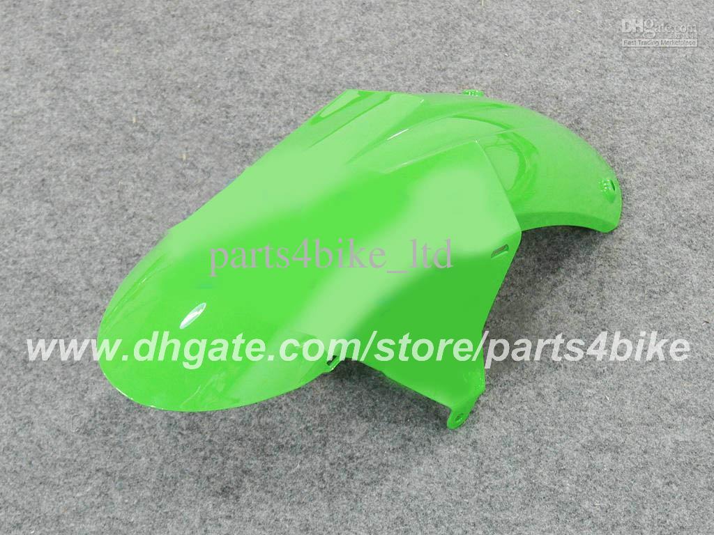 Kit carena in plastica ABS Kawasaki Ninja ZX-6R 2007 2008 ZX 6R 2007 2008 ZX6R 07 08 carene verde nero parti della carrozzeria della carrozzeria RX6z