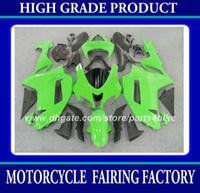 ingrosso zx6r plastic parts-Kit carena in plastica ABS per Kawasaki Ninja ZX-6R 2007 2008 ZX 6R 2007 2008 ZX6R 07 08 carene verde nero parti della carrozzeria della carrozzeria RX6z