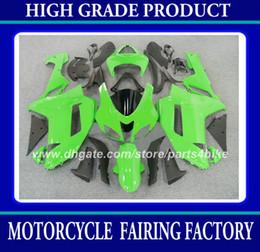 Argentina Kit de carenado plástico ABS para Kawasaki Ninja ZX-6R 2007 2008 ZX 6R 2007 2008 ZX6R 07 08 carenados verde negro carrocería piezas de la motocicleta RX6z cheap zx6r plastic parts Suministro
