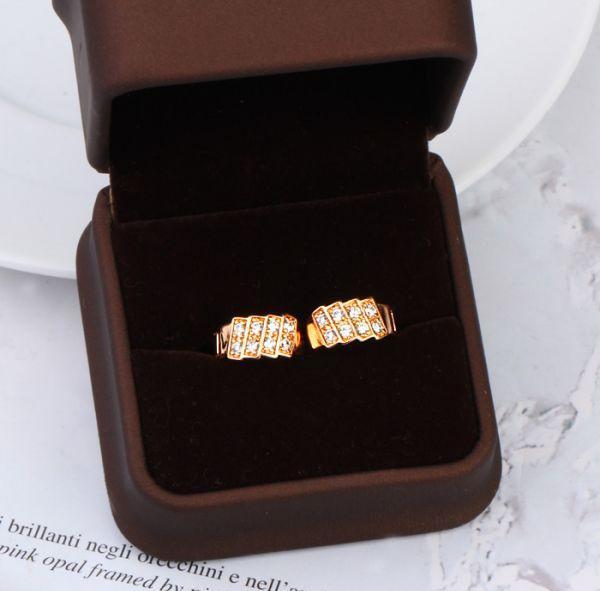 217E Boucles d'oreilles classiques en or rose remplies de bijoux fantaisie pour femmes avec plomb et zircon précieux sans nickel