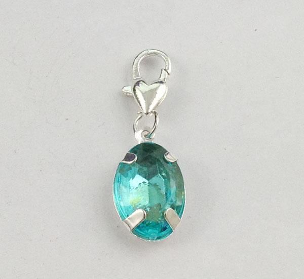 Los colores mezclados de diamantes de imitación de clip ovalada en encantos # 22661