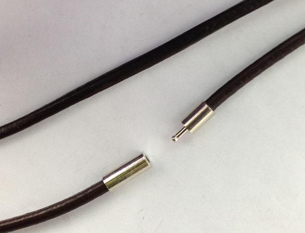 Collane in cordoncino di cuoio marrone moda da 20 cm da PCS da 3 pollici, lunghezza 70 cm, n. 22844