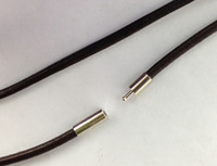 Wholesale Strand Chains Leather Necklace - 20 PCS 3mm Fashion Brown Leather Cord Necklaces 70cm #22844