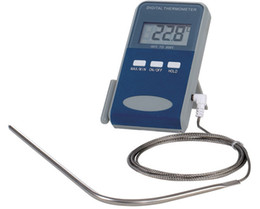 Wholesale Digital Thermometer For Meat - Free shipping digital food Thermometer for Grill Oven BBQ Meat Steak,Oven thermometer,Cooking thermometer,1.3M wire, LCD display