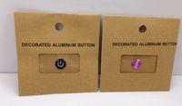 botón de inicio para el iphone 5g al por mayor-Envío Gratis 50 Paquetes de Aleación de Aluminio de Metal Home Button Stickers para iPad iPhone 5 5G 4S Regalo con paquete al por menor