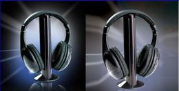 Wholesale Mp3 Sans Fil - Hot Selling 5 in 1 Wireless Headphone Casque Audio 5 en1 Sans Fil Ecouteur Hi-Fi Radio FM TV MP3 MP4