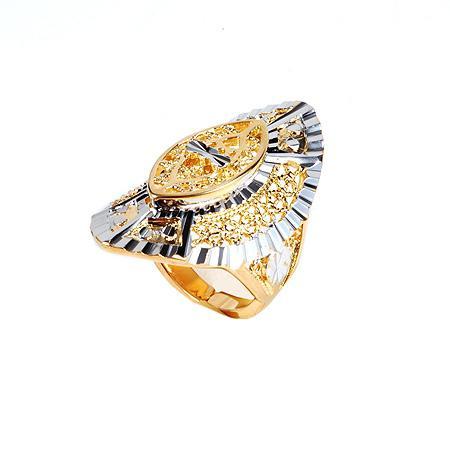59R Anéis Retangulares Especiais Generosos sem Pedra 18K Gold Filled