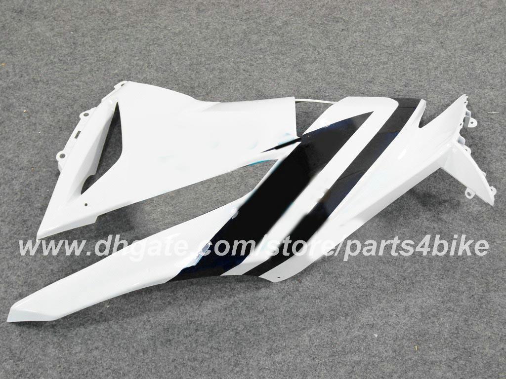 Carene moto Kawasaki Ninja ZX 6R 2009 2010 2011 ZX6R 09 10 11 ZX-6R 09 10 carenatura Personalizzare set carrozzeria bianco nero RX4z