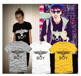 Wholesale Selling Boy London - Free shipping 2015 New boy london New hot-selling bigbang fashion brief eagle letter lovers short-sleeve T-shirt