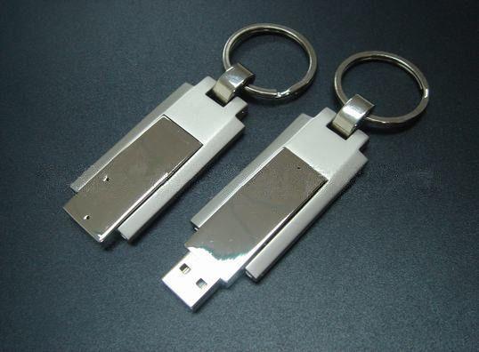 32GB USB Flash drive Creative Metal Turned rotating USB 2.0 Flash Drive with key ring 32gb disk usb gift flash memory stick drive