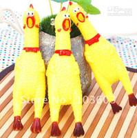 Wholesale Shrieking Chicken - Pet cat toys, crazy turkey, vent shrieking screaming chicken, pet talking toys, size S 100pcs lot+ F