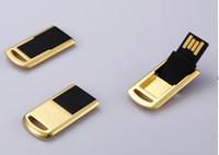 unidades flash al por mayor-Nueva unidad flash USB de 32GB Metal Little Turned unidad de memoria flash USB 2.0 giratoria 32 gb disco usb regalo unidad de memoria flash stick 10 unids / lote