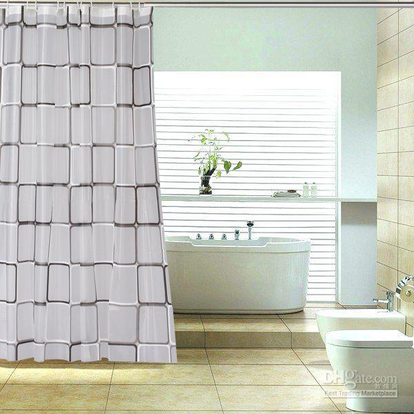 Curtains Ideas buy bathroom curtains online : Wholesale Shower Curtains At $14.73, Get Black And White Check ...