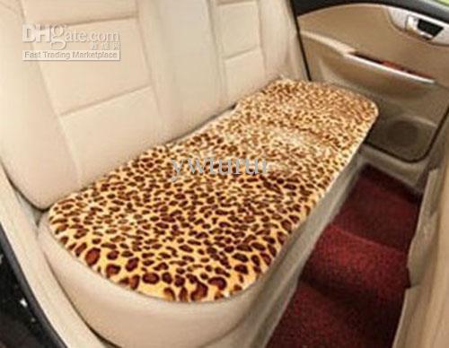 Car Interior Decoration Winter Leopard Print Design Seat