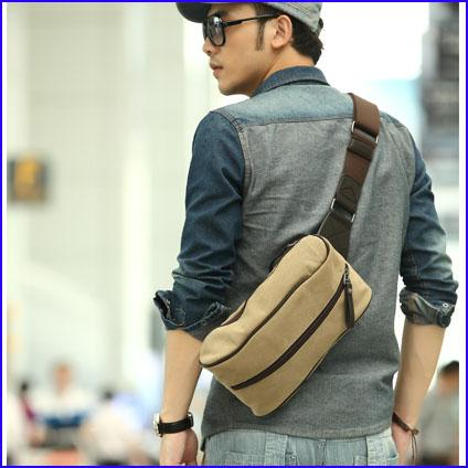 New 2013 Backpack Canvas Bag Sling Waist Bag, Bicycle Bag, Man Bag ...