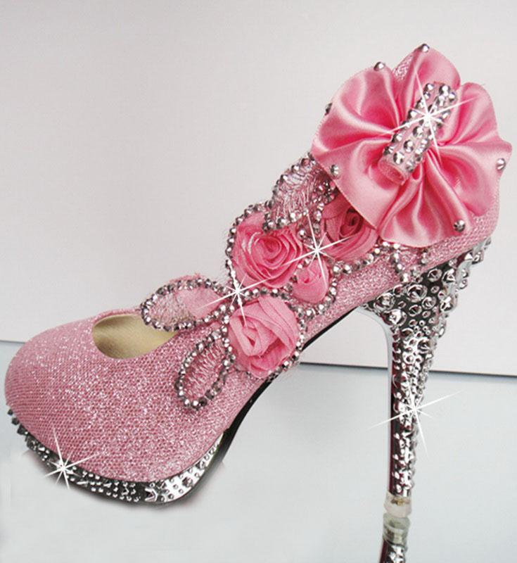 Hot 2019 Diamond Wedding Bride Wedding Shoes High Heel