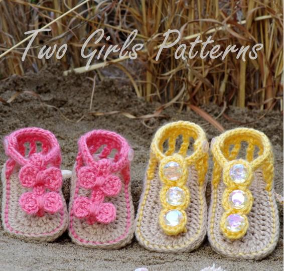 15%off!crochet Shoes Sandals/Toddler Shoes/Crochet Baby Sandals!baby ...