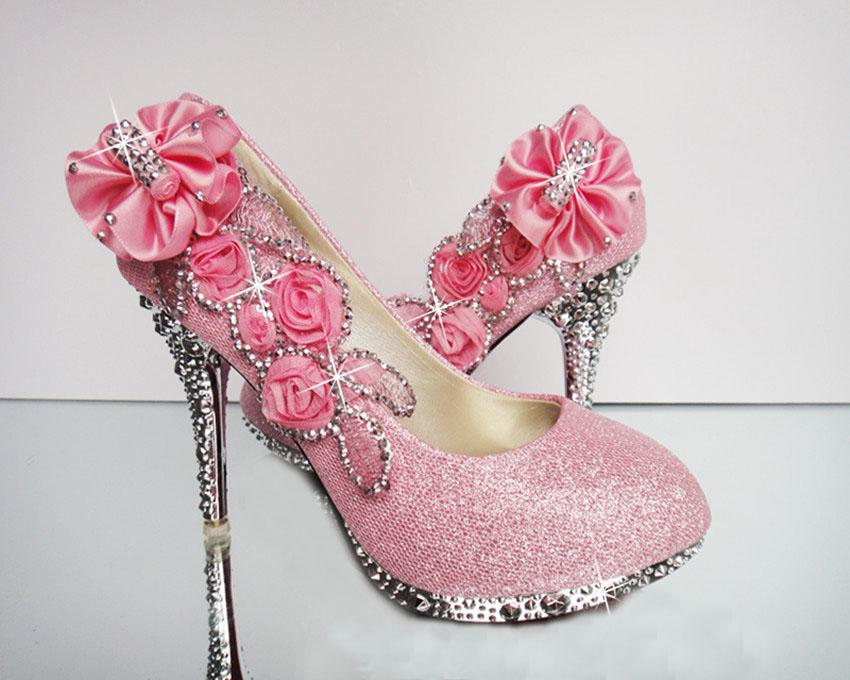 Diamond Wedding The Bride Wedding Shoes High Heel Wedding Shoes Pink  Wedding Shoes ...