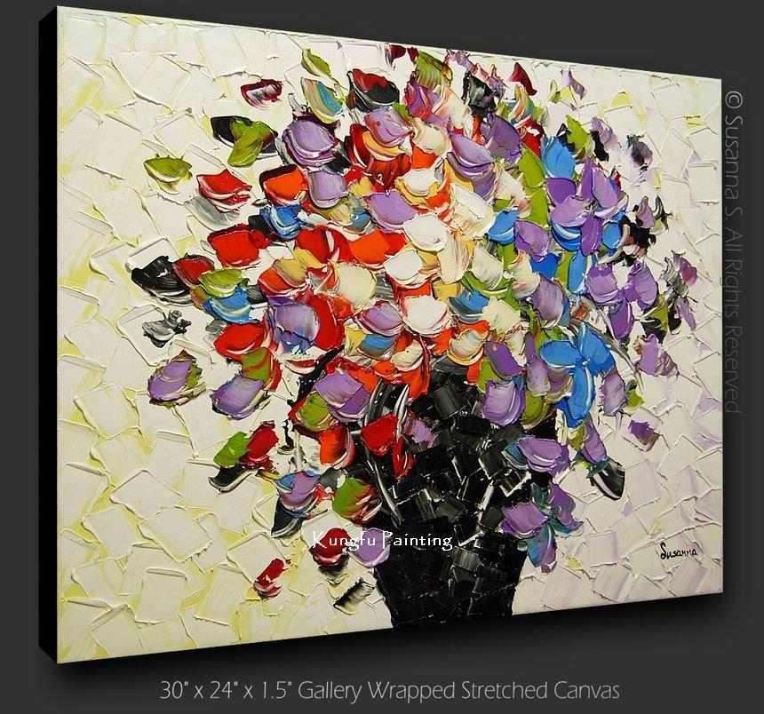 2019 100 Hand Paint Modern Canvas Art Palette Knife Textured Oil Painting On Canvas High Quality Home De From Kungfuart 52 69 Dhgate Com