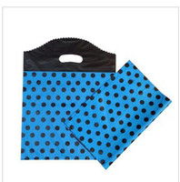 Wholesale Plastic Gift Bag 25 35cm - Candy color lovely dot plastic gift bag plastic bag gift bag 25*35cm blue