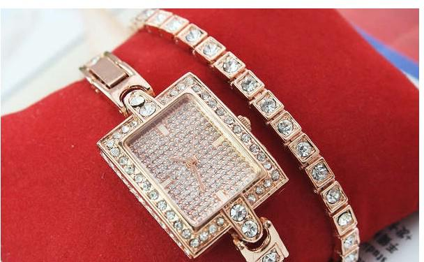 venta al por mayor de oro rosa hermoso diseño de señoras relojes de pulsera chica mujeres pulsera reloj envío gratis precio bajo