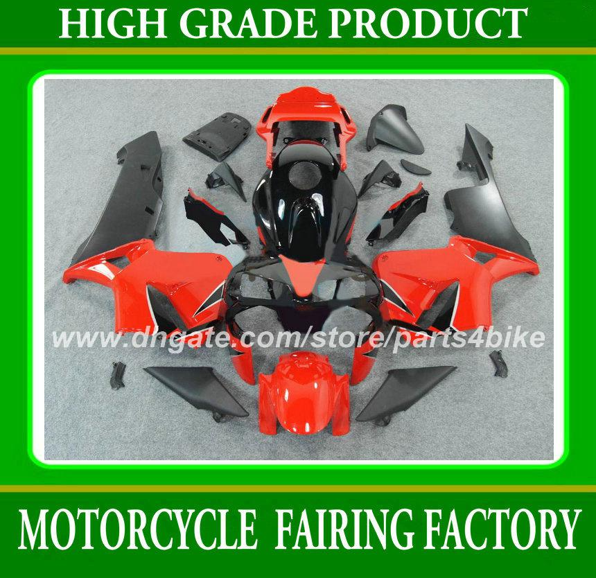 Motorcycle fairings Injection for Honda CBR600RR 2003 2004 CBR 600RR 03 04 CBR600 F5 03 04 fairing set hot sale red black body work RX4f