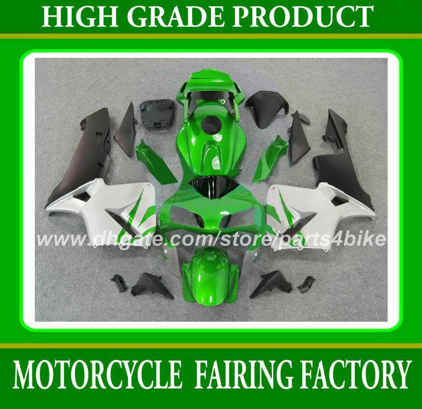 Carenagens de moto Injeção para Honda CBR600RR 03 04 CBR 600RR 2003 2004 CBR600 F5 2003 2004 kit de carenagem conjunto de trabalho corpo branco verde RX5d