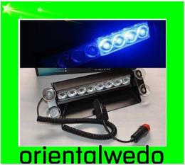 Wholesale Dash Deck Light - car 8 LED Dash Strobe Deck Flash Emergency Warning Lights Blue NEW new top sale free shipping