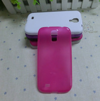 Wholesale Galaxy S Iv Tpu Case - 10 colors hot selling TPU Jelly Case For Samsung Galaxy S4 S IV i9500 500pcs