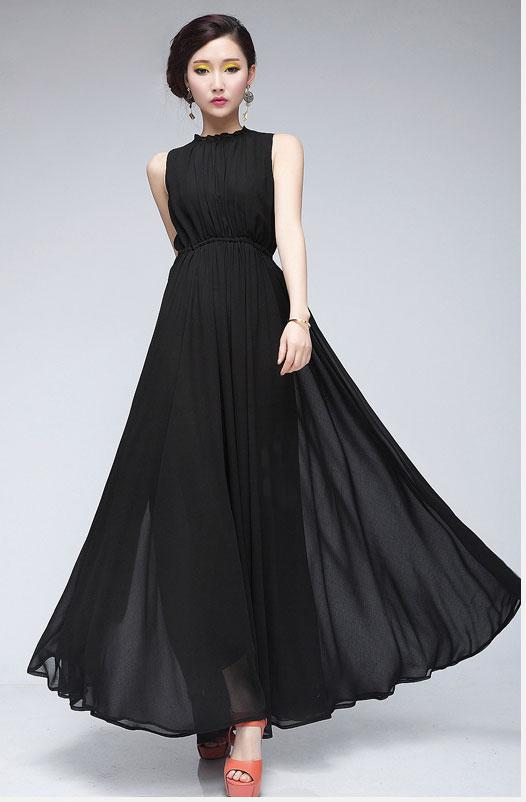 30249c1cfce3 2013 New Womens Noble High Waisters Strapless Casual Long Black Sexy ...