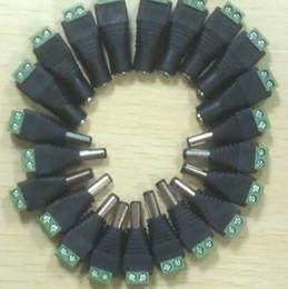 Wholesale Envío gratis mm mm DC macho conectores de alimentación macho enchufes CCTV cámara de seguridad macho hembra DC Power