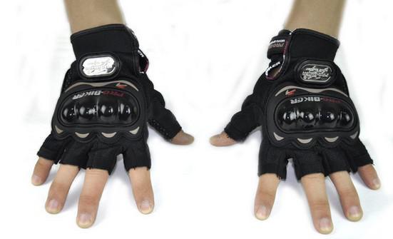 2016 NEW PRO-BIKER half finger knight gloves bike gloves motorcycle gloves bicycle riding glove Moto racing gloves 3 colors M L XL XXL