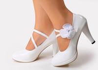 vestidos de dama de honor de ballet al por mayor-2016 zapatos de la boda del nuevo envío libre de la manera Zapatos de flores del alto talón zapatos de noche del partido zapatos nupciales de la boda