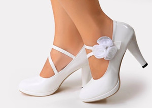 Wholesale 2016 Fashion new wedding shoes high heel flowers shoes party evening shoes bridal wedding shoes