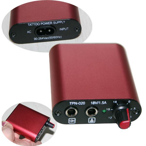 Chaud! Couleur rouge de mini alimentation d'énergie de tatouage pour des kits de poignée d'encre d'aiguille d'aiguille de tatouage