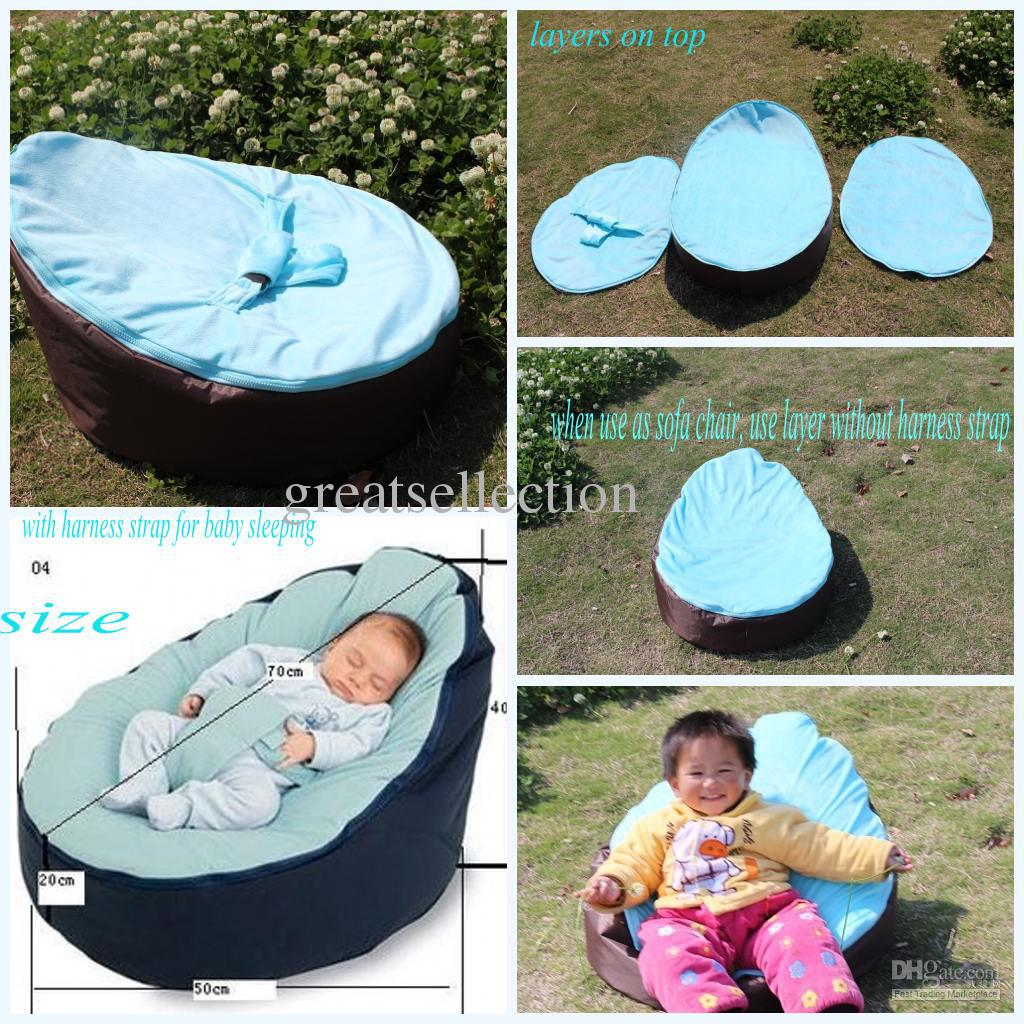 2018 Hot Baby Bean Bag Snuggle Bed Kids Sofa Chair Cover Two Top Covers No  Filling Waterproof Oxford Fabric From Greatsellection, $21.11 | Dhgate.Com