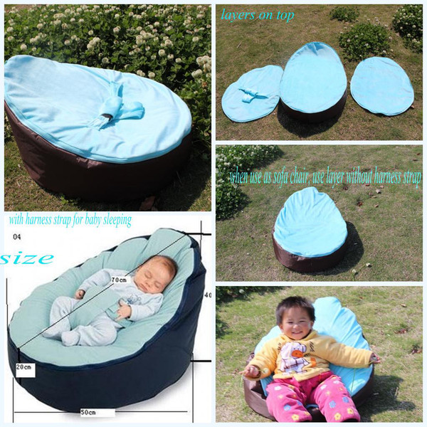 Phenomenal 2019 Hot Baby Bean Bag Snuggle Bed Kids Sofa Chair Cover Two Top Covers No Filling Waterproof Oxford Fabric From Greatsellection 21 11 Dhgate Com Ibusinesslaw Wood Chair Design Ideas Ibusinesslaworg