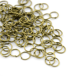 Wholesale Slide Connectors - 100PCS LOT, Jewellery Scarf DIY Connector Antique Bronze Color Iron Rings, Free Shipping, AC0091