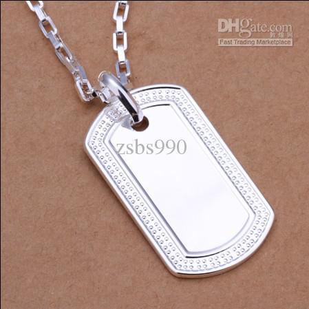 Top quality 925 prata soldados americanos licença militar colar de pingente de moda jóias frete grátis 10 pçs / lote
