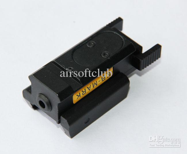 Tactical Compact Pistol Green Laser Sight guida del nastro da 20 mm