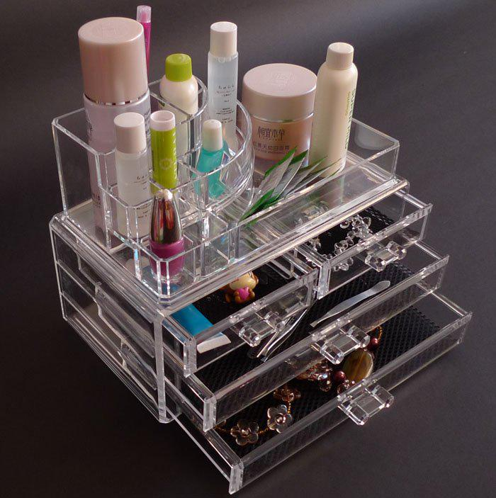 New Fashion Clear Acrylic Cosmetic Box Jewellery Makeup - Clear acrylic makeup organizer