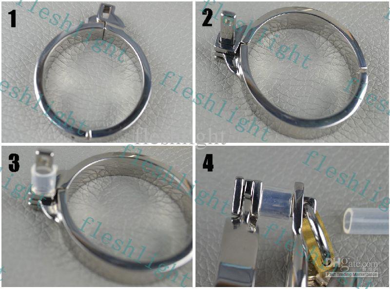 Nouveau: cage en acier inoxydable 2013 / éviter dispositif de chasteté chasteté masturbation / jouet sexuel masculin / plug-in dispositif de chasteté urétral