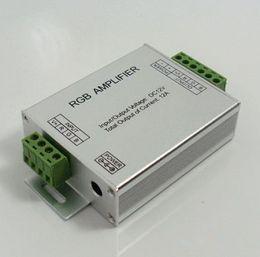 Wholesale Dc Amplifier - High Power LED RGB Amplifier DC12V input 12A output for rgb led strip rgb led module