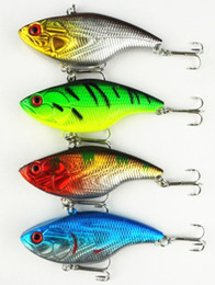 Wholesale Minnow Crank Baits - VIB 75mm Minnow Crank Hard baits Fishing lures Vibration Lure Fishing tackle bait Minnow 7.5CM 14.6G Game vibe 50pcs free shipping