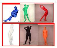 tam gövde spandex lycra takım elbise toptan satış-Lycra Spandex Tam Vücut Seksi Suit Catsuit Cadılar Bayramı Partisi Zentai Kostümleri S-XXL