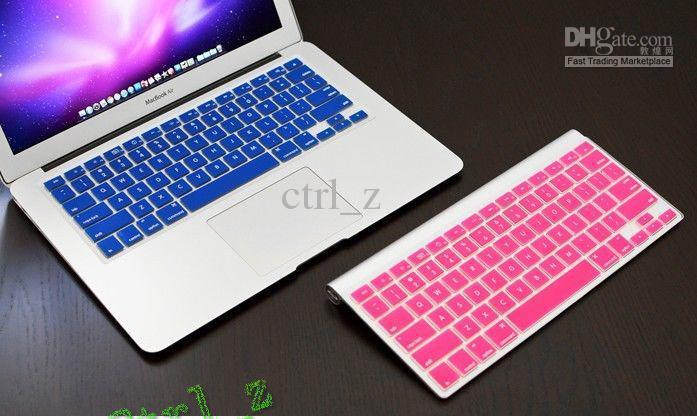 Laptop Silicone KeyBoard Case Protector Cover skin For MacBook 13``15`` 17`` waterproof dustproof 12 colors