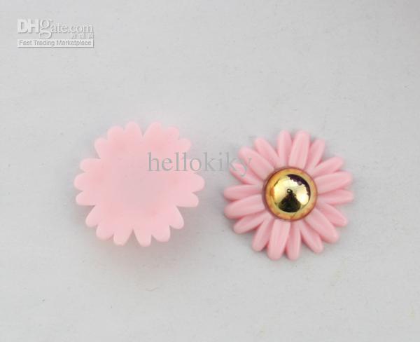 cabochon flatback rose / or marguerite fleur accessoire de bricolage # 22822