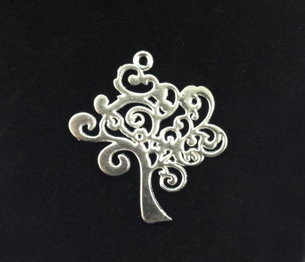 argento placcato metallo albero di vita ciondoli di fascino A15998SP il processo di gioielli