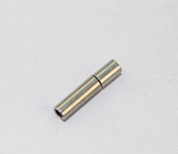 15 Conjuntos de Prata Tone 2mm Fechamento Cordão de Couro # 22757