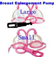 bomba manual de vácuo venda por atacado-Jogos adultos Plástico Manual Sucção A Vácuo Mama Ampliador Bomba Dual Cup Busto Engrenagem Da Ampliação Do Peito